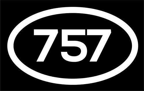 DHDM 757 Area Code Sticker Virginia Virginia Beach Chesapeake Hampton City Pride Love | 5-Inches by 3-Inches | Premium Quality White Vinyl | ND767