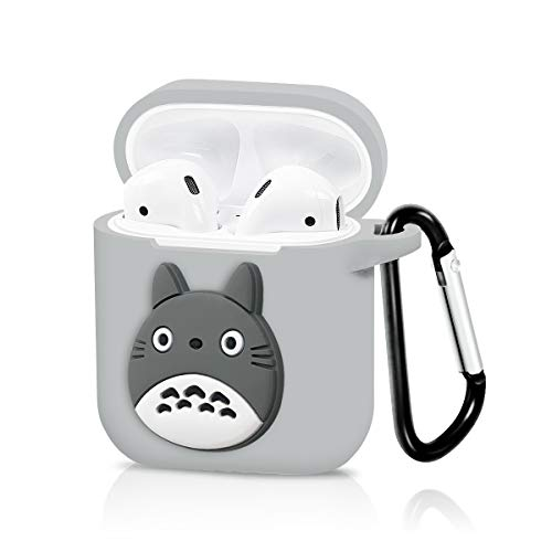 Airpods Case, Dolopow AirPods Accessories Shockproof Protective Premium Silicone Cover Skin for AirPods Charging Case 2 & 1 - Totoro