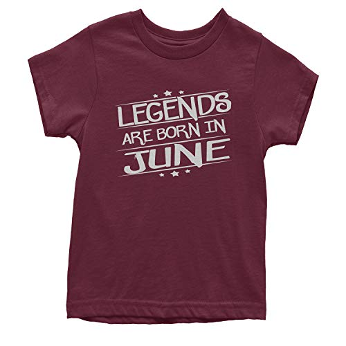 Legends Are Born Youth in June T-Shirt Large Maroon