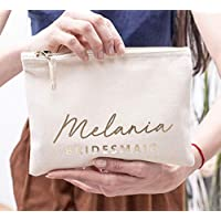 744f550c4421 Bridesmaid Cosmetic Bag Personalized Makeup Bag Bridesmaid Cute Gift Idea Make  up Bag Bridal Party Custom