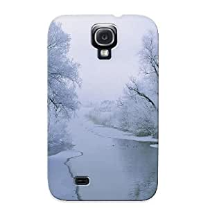 Nice Galaxy S4 Case Bumper Tpu Skin Cove Rwith Winter Scene Design For Thanksgiving Day Gift