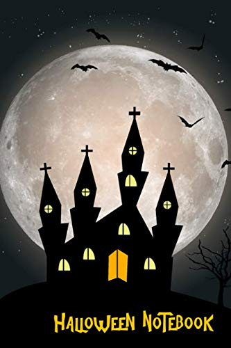 Halloween Notebook: Haunted House Trick or Treat, Children's College Ruled Lined Pages Composition -