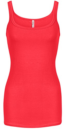 Reg Tank - Red Tank Tops for Women Red Camisoles Reg and Plus Size Tank Shirts Scoop Neck Everyday Tank, XX-Large