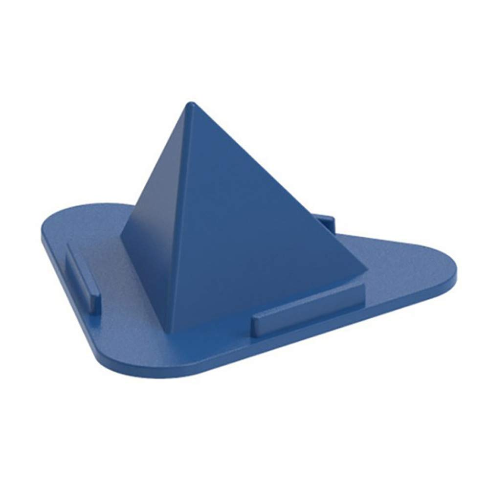 Phone Tablet Stand - Universal Creative Three-Sided Pyramid Desktop Stand Bracket Mobile Phone Stand (Blue)