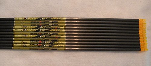 Beman ICS Percision Hunter 340 Carbon Arrows w/Blazer Vanes Pathfinder Wraps 1 Dz.