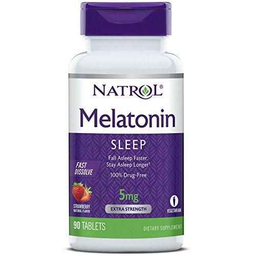 - Natrol Melatonin 5 mg Fast Dissolve Sleep Support Tablet - 90 per Pack - 2