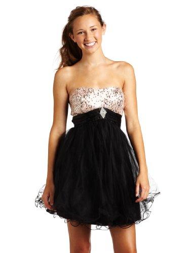 Trixxi Juniors Wired Hem Party Dress