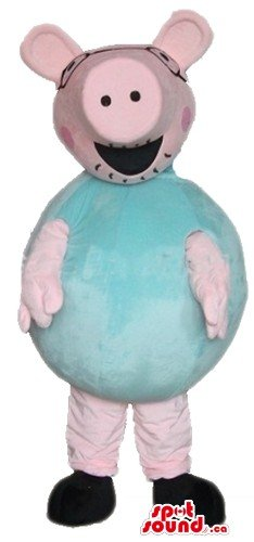 Daddy Pig Costume (Daddy Pig cartoon character SpotSound Mascot US costume fancy dress)