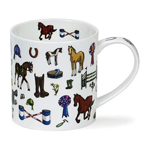 Dunoon Neigh! Horse Pony Equestrian Fine Bone China Mug Orkney Shape -