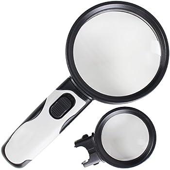 Amazon Com 10x Led Handheld Lighted Magnifying Glass