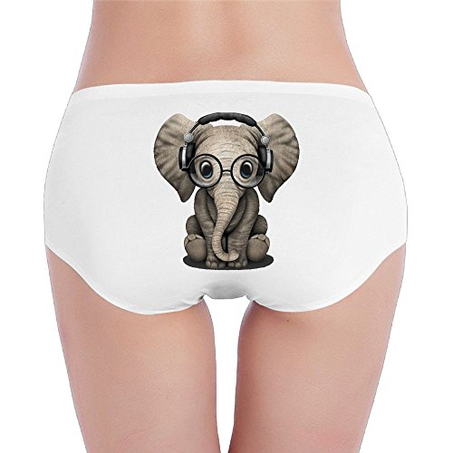 Women's Organic Cotton Hipster Elephant Glasses Basic Panties/Briefs - Munn Glasses Olivia