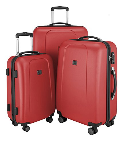 "HAUPTSTADTKOFFER - Wedding - Set of 3 Hard-side Luggage Glossy Suitcase Hardside Spinner Trolley Expandable (20"", 24"" & 28"") TSA Red by Hauptstadtkoffer"