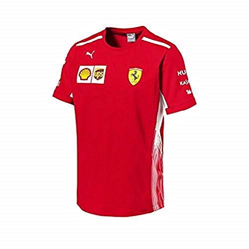 Ferrari Scuderia Formula 1 Men's Red 2018 Team T-Shirt w/Sponsors (Medium)
