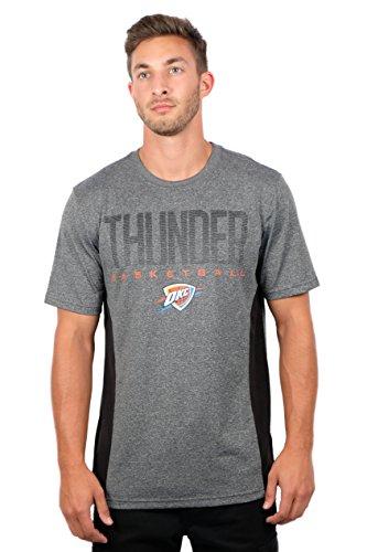 fan products of NBA Men's Oklahoma City Thunder T-Shirt Performance Short Sleeve Tee Shirt, Medium, Gray