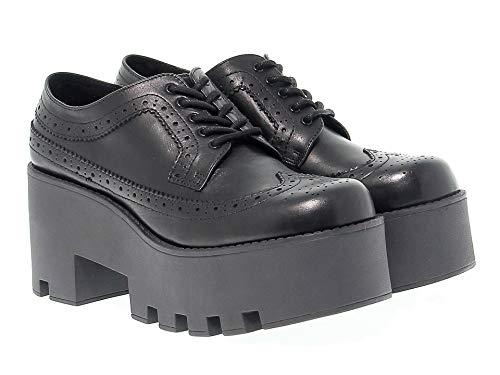 WINDFOXY Cuir À Femme Chaussures Windsor Lacets smith Noir 8xwaUWqH7