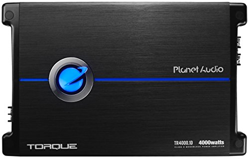 Planet Audio TR4000.1D Torque 4000 Watt, 1 Ohm Stable Class D Monoblock Car Amplifier with Remote Subwoofer Control