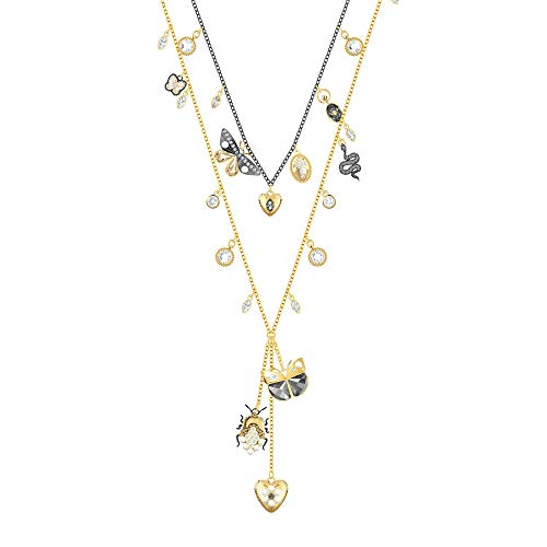 Swarovski Crystal Magnetic Bugs Long Layered Necklace