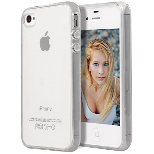 iPhone 4 Case,iPhone 4S Case, Drvan Bumper Shock-Absorption Anti-Scratch Crystal Clear Silicon TPU Soft Full Cover Case for Apple iPhone 4 / iPhone 4S - Clear (Iphone 4 Cases Crystal compare prices)