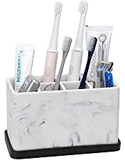 ZCCZ Toothbrush Holder, Electric Toothbrush Holder Caddy Toothpaste Stand for Bathroom Organization and Storage