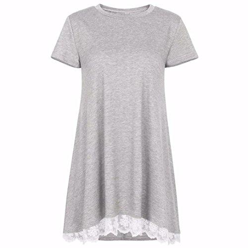 Ballerine SANFASHION SANFASHION Bekleidung Shirt155 Donna Damen Grigio SO6gqwI6