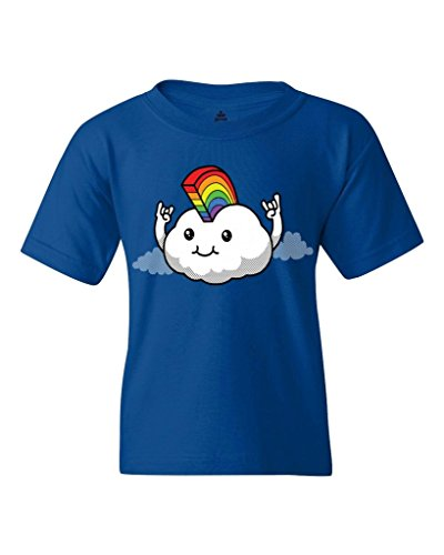 Cloud Rainbow Mohawk Youth's T-Shirt Gay Pride Shirts Youth Large Royal Blue 18301
