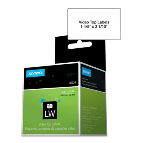 (New-DYMO 30326 - VHS Top Labels, 1-4/5 x 3-1/10, White, 150/Box - DYM30326)