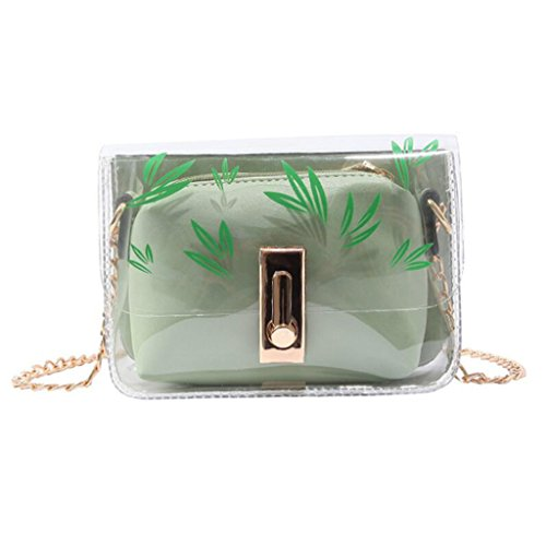 A Da Donna Trasparente Con Tracolla Liu Forma Cachi Pack Di colore Borsa Green Per Viaggio Jelly ItwAqUW5