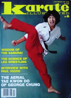February 1983 Karate Illustrated Magazine George Chung Cover