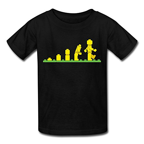 LDMH Youth's Unisex Evolution Of Lego TShirt - Kids T-shirt Evolution