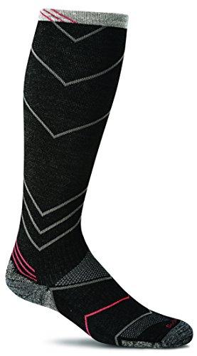 Sockwell Men's Incline Compression Socks, Black, Large/X-Large (Sensation Merino Wool Socks)