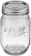 Ball Mason 16-Ounce Canning Jars, Pint, Regular, 12 Count
