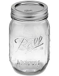 Ball Pint Jar, Regular Mouth, Set of 12, (16 oz)