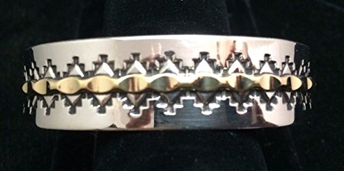 Navajo Silver and Gold Bracelet/Cuff No Reserve Signed Silver Cuff Bracelet Signed
