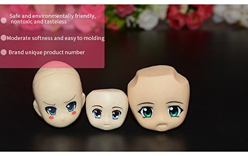 mofa 9 PCS of Set Human Face Shaped 3D Silicone Cake Fondant Mold, Cake Decoration Tools, Soap, Candle Moulds,Fondant, Polymer Clay, Soap Making, Crafting Projects (Large Size) by mofa (Image #4)