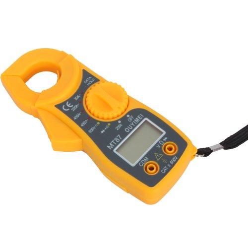 Olymstore Digital Clamp-on Multimeter Voltmeter Ammeter Ohmmeter with Temperature Probe & Battery