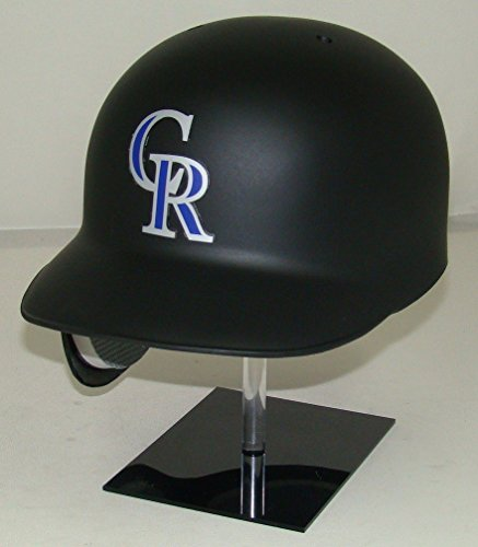 Colorado Rockies Matte Black MLB Classic Style Official Authentic Batting Helmet (for Left Handed ()