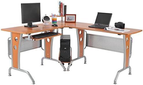 HOMCOM Mesa Ordenador PC Esquinera 165x143x86,5cm Madera ...