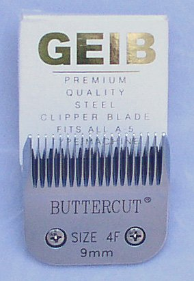 Geib Buttercut Stainless Steel Dog Clipper Blade, Size-4F, 3/8-Inch Cut Length by Geib Buttercut