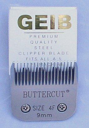 Geib Buttercut Stainless Steel Dog Clipper Blade, Size-4F, 3/8-Inch Cut - Blade Set 4f