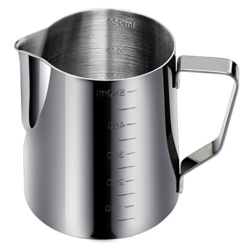 Ipow-20-Oz-Measurements-On-Both-Sides-188-Gauge-Stainless-Steel-Steaming-Frothing-Pitcher-for-Espresso-Machines-Milk-Frothers-Latte-Art