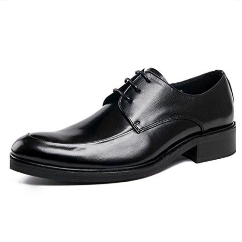 Coreano Black Affari Scarpe Scarpe Stringate Basse Scarpe Moda Oxford Rotonda Scarpe Uomo Scarpe Pelle da Britanniche Pelle Testa Scarpe Moda in alla qgt6nFxp1w