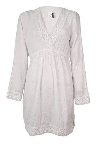 Lauren Womens Cotton Crochet Cover Up