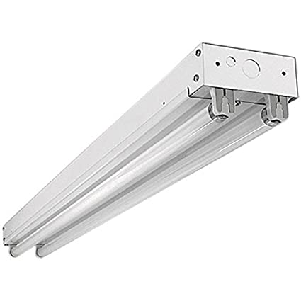 2 Lamp) - F32T8 - 4 ft. Fluorescent Strip Fixture - Surface Mount ...
