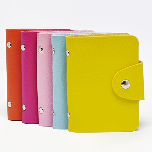 Gikfun Fashion Soft Credit ID Card Holder Case Purse Pocket Wallet Pouch Organizer 24 Slots (Pack of 5pcs) EK8430