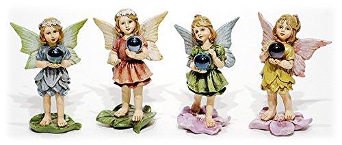 4quot Resin Garden Fairies  Set of 4