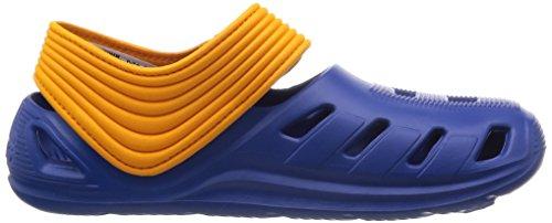 adidas Zsandal C Chanclas, Unisex infantil Azul / Blanco / Naranja (Eqtazu / Ftwbla / Eqtnar)