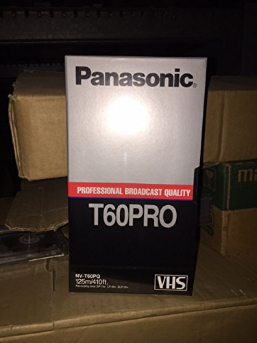 5 Pack of Panasonic T60PRO Professional Broadcast Quality VHS Video Cassette Tapes - NV-T60PQ - 125M/410Ft by Panasonic