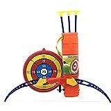 PER Children Toy Bow Arrow Archery Set with Arrow Holder& Target Safe Sucker Arrow for Kids