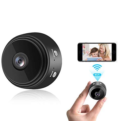 Mini Camera WiFi Wireless Video Camera 1080P HD Small Home Security Surveillance Cameras with 32G SD Card, Portable Tiny…
