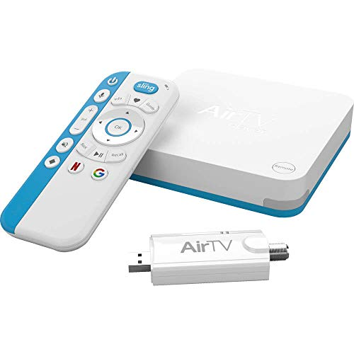 AirTV All-In-One with Dual Tuner Adapter | 3ft Cat5e UTP Cable & ASKA TV Coaxial Cable Splitter | Bonus $25 SlingTV Credit from Sling